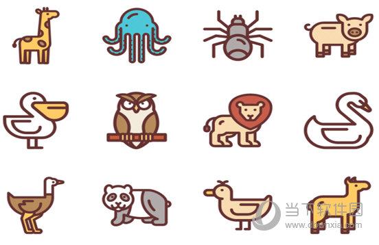 动物简约系列图标