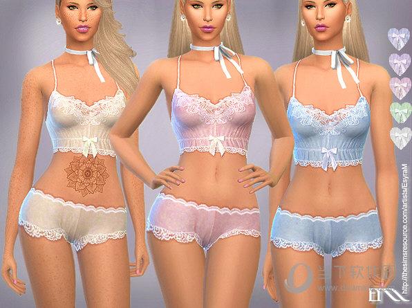 模拟人生4女式复古风贴身蕾丝内衣MOD