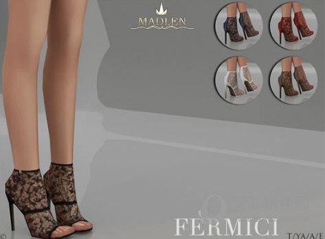 模拟人生4镂空绣花半透明性感高跟鞋MOD