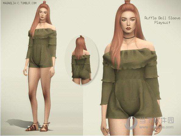 模拟人生4女式纱质时尚连体衣MOD