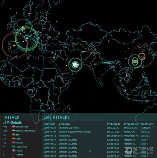 Wallpaper Engine全球网络流量攻击动态动态壁纸