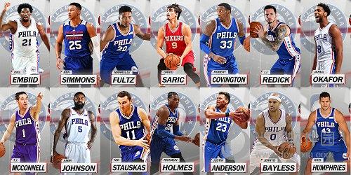 NBA 2K18 76人全队球员照片补丁