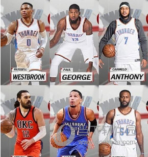 NBA2K18雷霆全队球员高清照片补丁