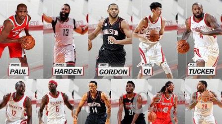 NBA2K18火箭全队球员高清照片补丁