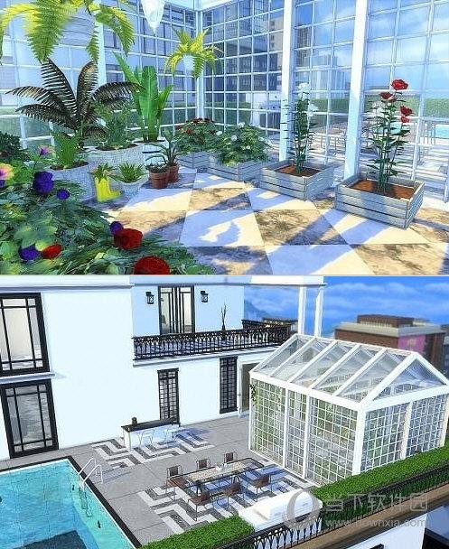 模拟人生4三米舒诺现代风顶层豪华公寓MOD