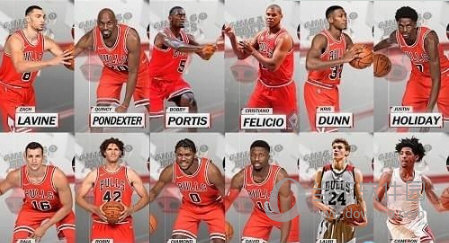 NBA2K18公牛全队球员高清照片补丁
