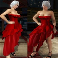 死或生5最后一战克里斯蒂鲜红斜裙摆抹胸礼服MOD 免费版