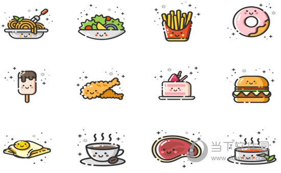 西式类食物图标