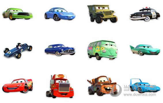 卡通小轿车图标
