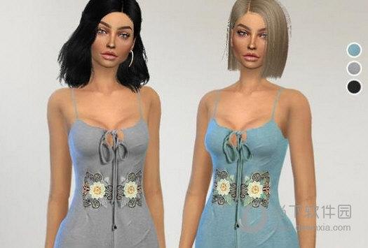 模拟人生4女士棉布材质可爱连体睡衣MOD