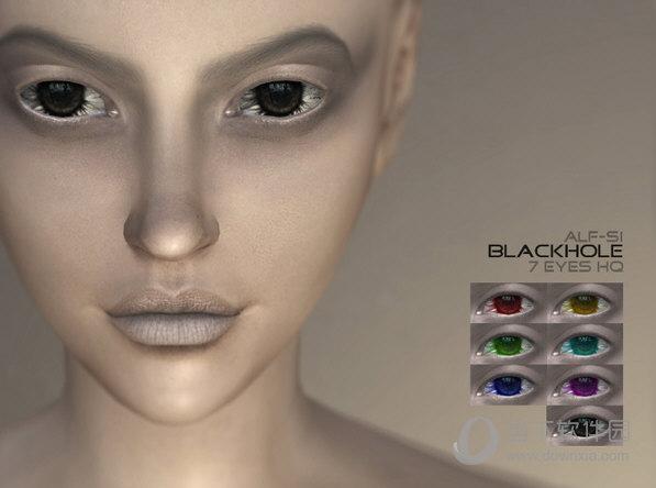 模拟人生4N11高清黑洞单色美瞳包MOD