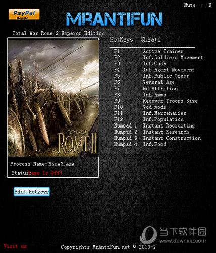 罗马2全面战争十五项修改器