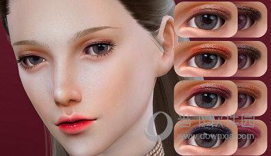 模拟人生4微醺淡荧光上眼皮眼影MOD