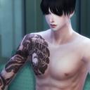 模拟人生4男士整条手臂纹身包MOD 免费版