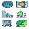 环保污染多色图标 免费版