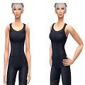 模拟人生4女士健身帝国黑色高弹力连体紧身衣MOD 免费版