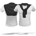 模拟人生4男士披肩围领围巾T恤MOD V1.0 免费版