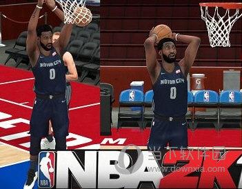 NBA2K18活塞队庄神最新身形MOD