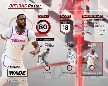 NBA2K18热火队韦德最新面补MOD