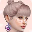 模拟人生4五色心形耳环MOD 免费版