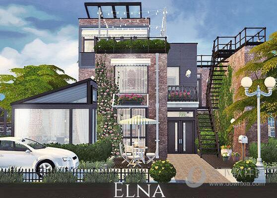 模拟人生4山顶三层现代别墅MOD