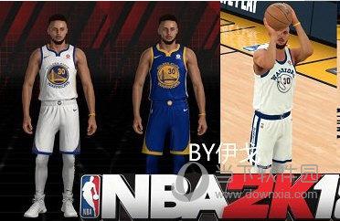 NBA2K18勇士队斯蒂芬库里最新身形MOD