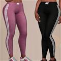 模拟人生4女士勾勾牌竖条纹修身运动裤mod 免费版