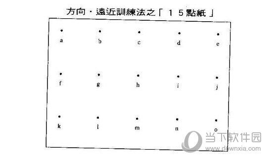 松崎视力增进法十五点纸训练