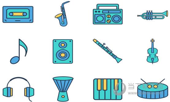 音乐相关系列图标