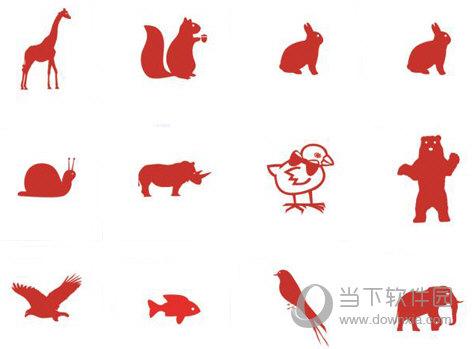 单色简单动物图标