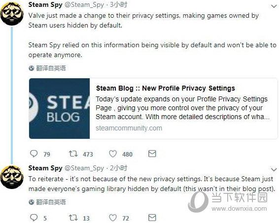 Steam隐私设定
