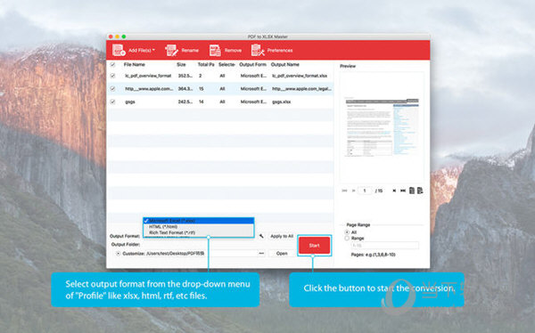 PDF to XLSX Master Mac版