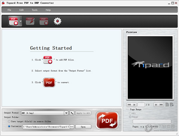 Tipard Free PDF to BMP Converter