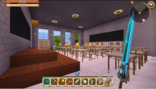 作者昵稱 :YOYO 迷你號 :81573730 本地圖主題是校園,大家學校里有的建筑樓這個地圖里都有,操場、泳池、食堂、宿舍、綜合樓、花壇、教學樓、停車場應有盡有,下面一起細看下yoyo同學的學校建筑~ 地圖截圖分享: 首先進入學校大門后有個花壇,花壇后面就是非常霸氣的教學樓,這個建筑風格有點像集美學村的嘉庚建筑風格~白墻紅頂。 教學樓分兩層,一樓有3個教室,二樓有3個教室、校長室、辦公室、教務處,還是滿豐富的~