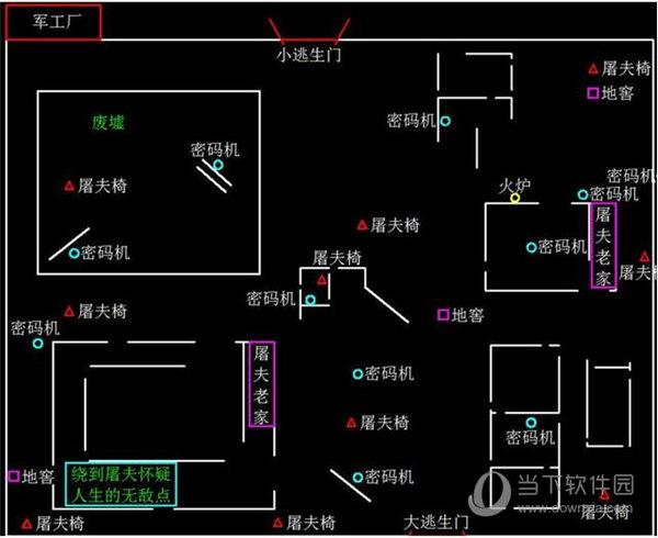 第五人格军工厂地图
