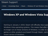 Steam2019年停止支持XP和Vista系统 赶快升级吧!