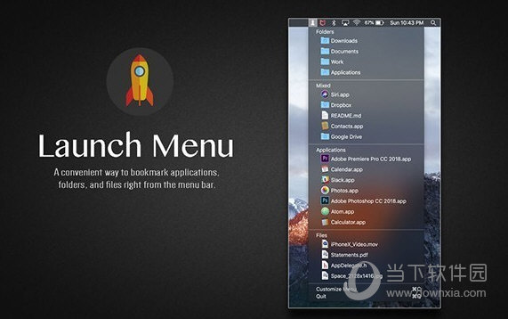 Launch Menu for Mac