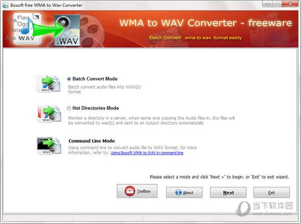 Boxoft WMA to Wav converter