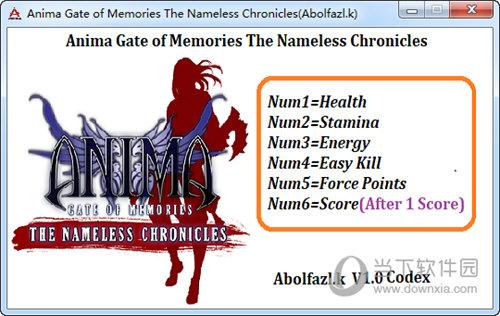 阿尼玛回忆之门无名之史六项修改器