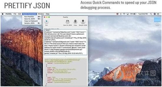 Prettify JSON for Mac