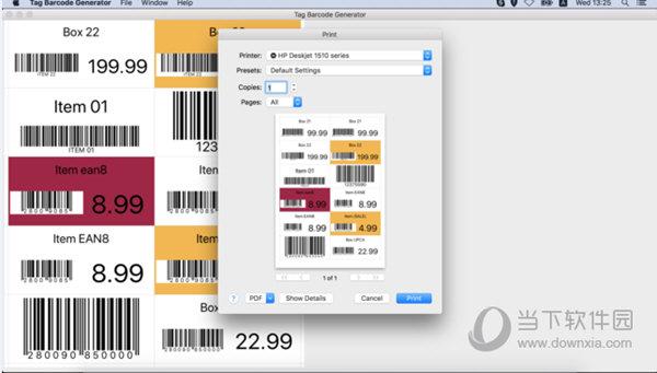 Tag Barcode Generator Mac版