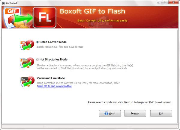 Boxoft GIF To Flash