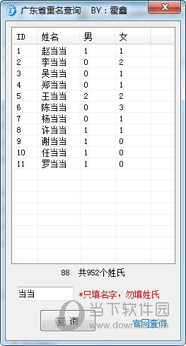 霍鑫广东省重名查询