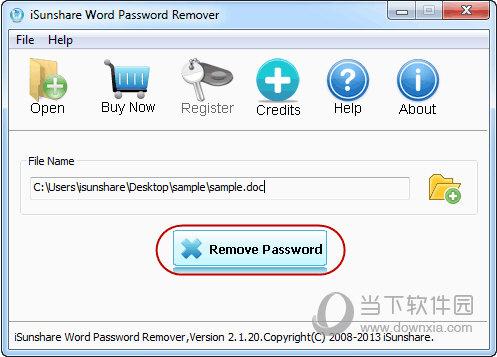 iSunshare Word Password Remover