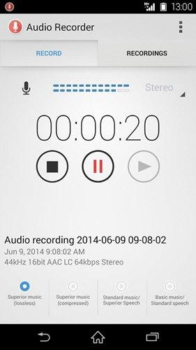 Audio Recorder(索尼录音软件) V2.00.35 安卓版截图3