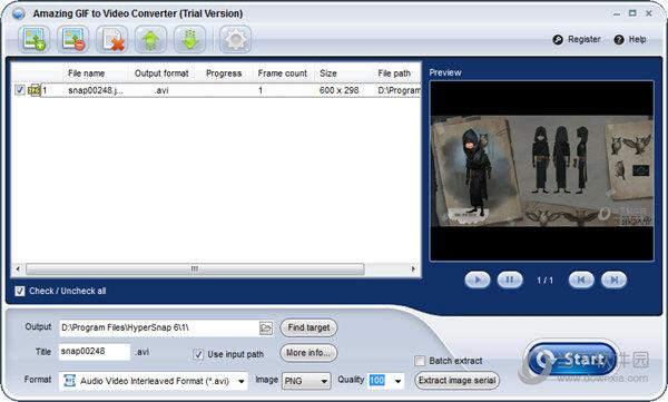 Amazing GIF to Video Converte
