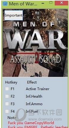 战争之人突击小队2三项修改器