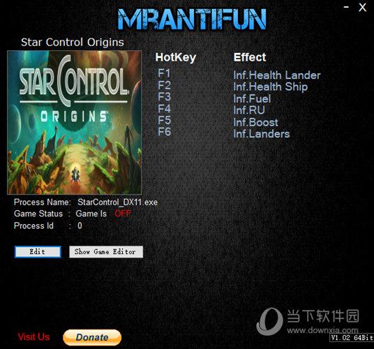 行星控制起源六项修改器