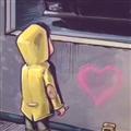 橱窗外看车的小男孩表情包下载