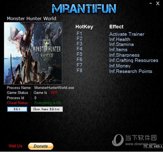 怪物猎人世界七项修改器